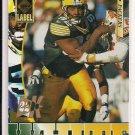 REGGIE WHITE 1995 EDGE BLACK LABEL 22K GOLD CARD