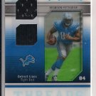 BRANDON PETTIGREW LIONS 2009 SP ROOKIE THREADS DUAL JSY