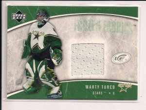 MARTY TURCO STARS 2005-06 UD ICE FORZEN FABRICS JERSEY