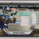 RAMSES BARDEN GIANTS 2009 CERTIFIED RC JERSEY #'D 08/25!