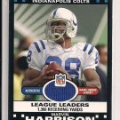 MARVIN HARRISON COLTS 2007 TOPPS LEAGUE LEADERS JERSEY