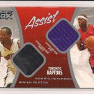 RAFER ALSTON-MORRIS PETERSON 2005 LUXURY BOX ASSIST JERSEYS