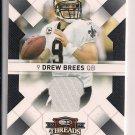 DREW BREES SAINTS 2009 DONRUSS THREADS JERSEY #'D 055/250!