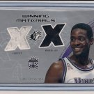 CHRIS WEBBER KINGS 2002 SPX WINNING MATERIALS DUAL SWATCH