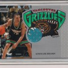 MIKE BIBBY GRIZZLIES 2001 STADIUM CLUB GAME WORN JERSEY