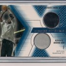 KEVIN GARNETT TIMBERWOLVES 2001 UD DUAL SHIRT/WARM-UP CARD