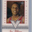JAY WILLIAMS BULLS 2002-03 UD GLASS VIP ACCESS JERSEY