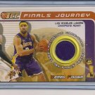 DEREK FISHER LAKERS 2001-02 TOPPS TCC NBA FINALS JERSEY CARD