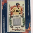 JOHNNY DAMON RAYS 2011 TOPPS ALLEN & GINTER'S GAME USED