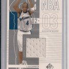 COURTNEY ALEXANDER WIZARDS 2002-03 SP AUTHENTIC FABRICS