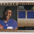 RAMSES BARDEN GIANTS 2009 SPX ROOKIE MATERIALS DUAL JSY