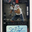 SLOAN THOMAS TEXANS 2004 PLAYOFF CONTENDERS RC AUTO