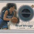 WALLY SZCZERBIAK TIMBERWOLVES 2001-02 UD OVATION WARM-UP