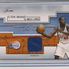 ELTON BRAND CLIPPERS 2002-03 FLAIR COURT KINGS SHORTS CARD