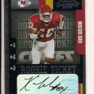 KRIS WILSON CHIEFS 2004 PLAYOFF CONTENDERS RC AUTO