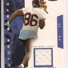 TAYLOR JACOBS REDSKINS 2003 FLEER FUTURE SWATCH JERSEY