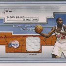 ELTON BRAND CLIPPER 2002-03 FLAIR COURT KINGS JERSEY CARD
