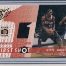 QYNTEL WOODS BLAZERS 2002-03 TOPPS XPECATIONS JERSEY