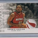 UDONIS HASLEM HEAT 2009-10 TOPPS ROUNDBALL REMNANTS JERSEY
