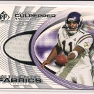 DUANTE CULPEPPER VIKINGS 2004 SP AUTHENTIC FABRICS