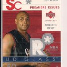 SAM CLANCY 76ERS 2002-03 UD GLASS RC JERSEY