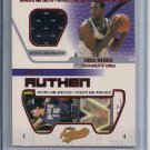 CHRIS WEBBER KINGS 2002-03 FLEER AUTHENTIX JERSEY