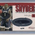 KIRK SNYDER NEVADA 2001 SAGE RED JERSEY #'D 98/99!