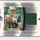 CHAD PENNINGTON JETS 2003 SP AUTHENTIC THREADS JERSEY
