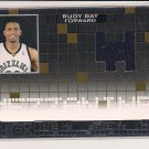 RUDY GAY GRIZZLIES 2007-08 LUXURY BOX MEZZANINE RELIC #'D 19/99!