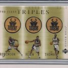 ROBINSON/ALLEN/THOMAS 2001-02 UD HONOR ROLL FLOOR TRIPLES