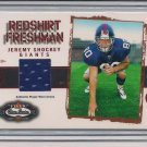 JEREMY SHOCKEY GIANTS 2002 FLEER REDSHIRT FRESHMAN RC JERSEY