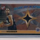 CHRIS WEBBER KINGS 2001-02 TOPPS PRISTINE ALL STAR WAM UP