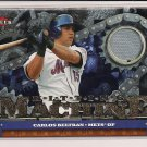 CARLOS BELTRAN METS 2007 FLEER ULTRA HITTING MACHINE JERSEY