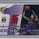 CHRIS JEFFERIES RAPTORS 2002-03 TOPPS XPECTATIONS RC JERSEY