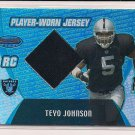 TEYO JOHNSON RAIDERS 2003 BOWMANS BEST RC JERSEY