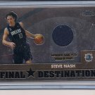 STEVE NASH MAVERICKS 2003 TOPPS CHROME PANTS CARD