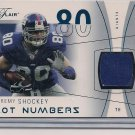 JEREMY SHOCKEY GIANTS 2004 FLAIR HOT NUMBERS JERSEY  #'D 190/200!