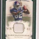 MARIO MANNINGHAM GIANTS 2008 UD MASTERPIECES JERSEY