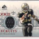 DONTE STALLWORTH 2002 SP LEGENDARY CUTS ROOKIE JERSEY