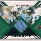 VINCE YOUNG TITANS 2008 STADIUM CLUB IMPACT JERSEY