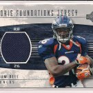 TATUM BELL BRONCOS 2004 UD ROOKIE FOUNDATIONS JERSEY