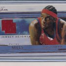 DARIUS MILES 2002-03 FLAIR JERSEY HEIGHTS JERSEY CARD