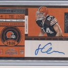 JORDAN CAMERON BROWNS 2011 PLAYOFF ROOKIE TICKET AUTO