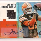 TRAVIS WILSON BROWNS 2006 SPX AUTO ROOKIE JERSEY
