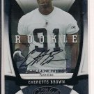 EVERETTE BROWN PANTHERS 2009 NEW GERNATION ROOKIE AUTO