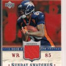 ASHLEY LELIE BRONCOS 2005 ROOKIE DEBUT SUNDAY SWATCH JSY