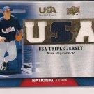 NICK PEPITONE 2009 UPPER DECK USA BASEBALL TRIPLE JERSEY