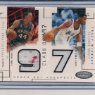 VAN HORN/MCGRADY 2002-03 HOOPS HOT PROSPECTS DUAL SWATCH