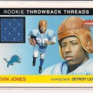 KEVIN JONES LIONS 2004 FLEER TRADITION ROOKIE THROWBACK JSY