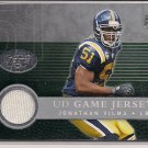 JONATHAN VILMA 2008 UPPER DECK GAME JERSEY